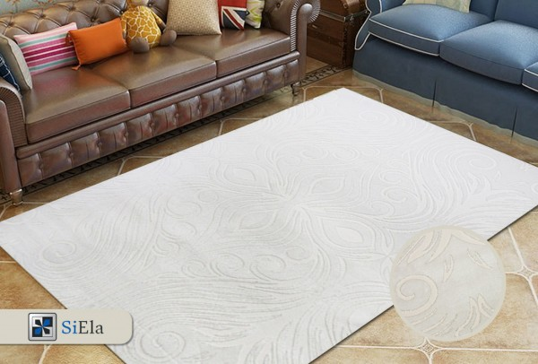 Siela | Lux Collection | Teppich | Creme | Polyacryl & Wolle Höhe 13mm 3,2 kg | S-1485-Cream